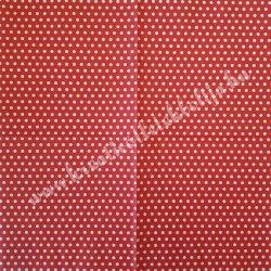 Szalvéta, mintás, pöttyös, piros, 33x33 cm (3)