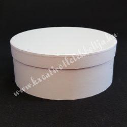 Kerek kalapdoboz, fehér, közepes, 17 cm
