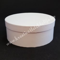Kerek kalapdoboz, fehér, nagy, 20 cm