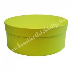Kerek kalapdoboz, lime, közepes, 17 cm