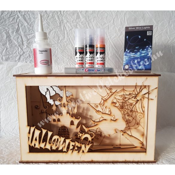 3D dekor doboz pakk, boszorkánykastély