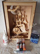 3D dekor doboz pakk, szellemkastély