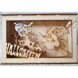 3D dekor doboz, boszorkánykastély