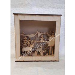 3D dekor doboz téli táj