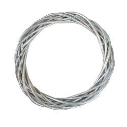 Vesszőkoszorú, ezüst, 30 cm