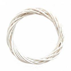 Vesszőkoszorú, fehér, 30 cm