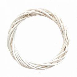 Fehér vesszőkoszorú, 28 cm