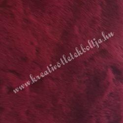 Rövid szőrű műszőr, bordó, 8x160 cm
