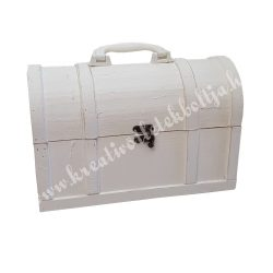 Fa ládikó, fehér, 40x20,5x37 cm