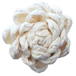Betűzős papír tavirózsa, krém, 5 cm
