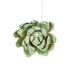 Betűzős papír tavirózsa, zöld, 5 cm