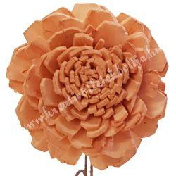Szárított virágfej, narancssárga, 5 cm
