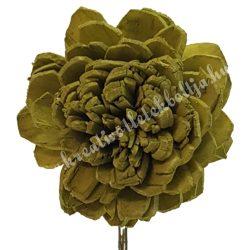Szárított virágfej, sötétzöld, 5 cm