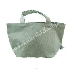 Vászon bevásárló táska, zöld, 34x20x15 cm