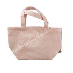 Vászon bevásárló táska, rózsaszín, 34x20x15 cm