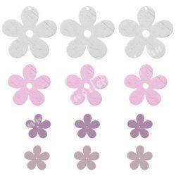 Fa virágfej, fehér, lila, rózsaszín, pasztell lila