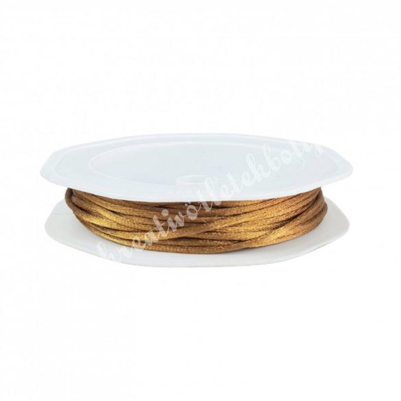 Szatén zsinór, arany, 2 mm