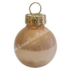 Üveggömb, pezsgő, fényes, 6 cm