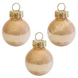 Karácsonyfadísz, üveggömb, pezsgő, fényes, 8 cm, 3 db/doboz