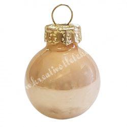 Üveggömb, pezsgő, fényes, 8 cm
