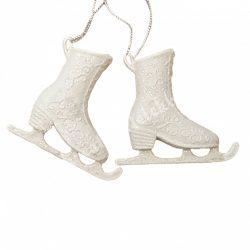 Akasztós korcsolya pár, fehér