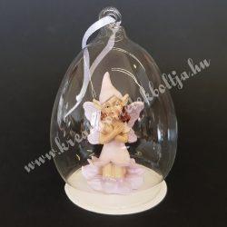 Lila tündér, üvegben (akasztós)