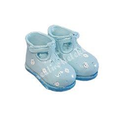 Polyresin babycipő, világoskék