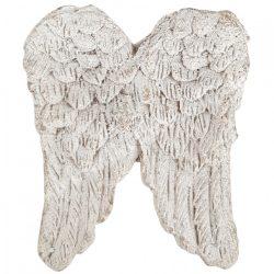 Polyresin angyalszárny, antikolt fehér, 2,5x3 cm