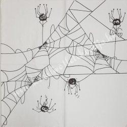 Szalvéta, Ősz, pók és hálója (43)