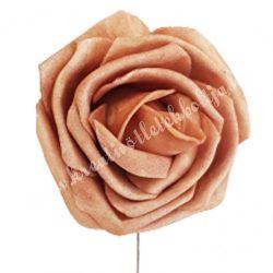 Polifoam rózsa, vintage barna, 5 cm