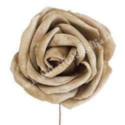 Polifoam rózsa, vintage zöld, 5 cm