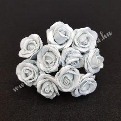 Polifoam rózsa, szürke, 10 darab/csokor