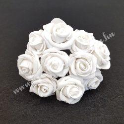 Polifoam rózsa, vintage szürke, 10 darab/csokor