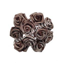 Polifoam rózsa, kakaó, 10 szál/csokor