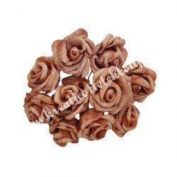 Polifoam rózsa, vintage barna, 10 darab/csokor