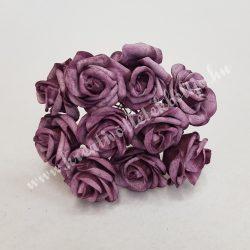 Polifoam rózsa, vintage lila, 10 darab/csokor