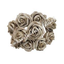 Polifoam rózsa, vintage zöld, 10 darab/csokor