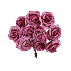 Polifoam rózsa, vintage bordó, 10 szál/csokor