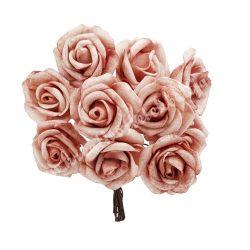 Polifoam rózsa, vintage mályva, 10 szál/csokor