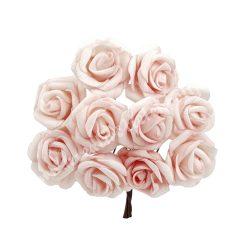 Polifoam rózsa, vintage rózsaszín, 10 szál/csokor