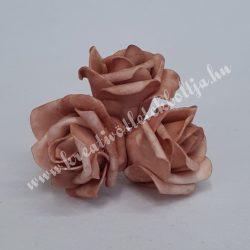 Polifoam rózsa, vintage vilagosbarna, 5 cm