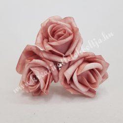Polifoam rózsa, vintage baba rózsaszín, 5 cm
