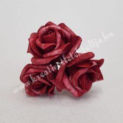 Polifoam rózsa, vintage piros, 5 cm