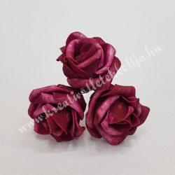 Polifoam rózsa, vintage bordó, 5 cm