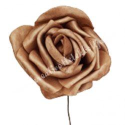 Betűzős polifoam rózsafej, barna, 5 cm