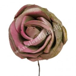 Betűzős polifoam rózsafej, bordós zöld, 5 cm