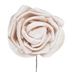 Betűzős polifoam rózsafej, púder, 5 cm