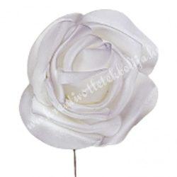 Betűzős polifoam rózsafej, világos lila, 5 cm