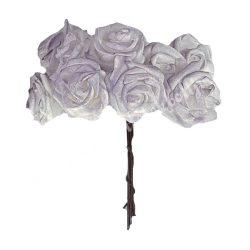 Polifoam rózsafej, világoslila, 10 szál/csokor