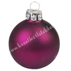 Karácsonyfadísz, üveggömb, burgundi, matt, 5 cm